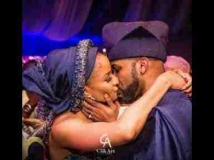 Video: Banky W & Adesua Share Their First kiss And Show Off Their Dance Moves At Their Wedding